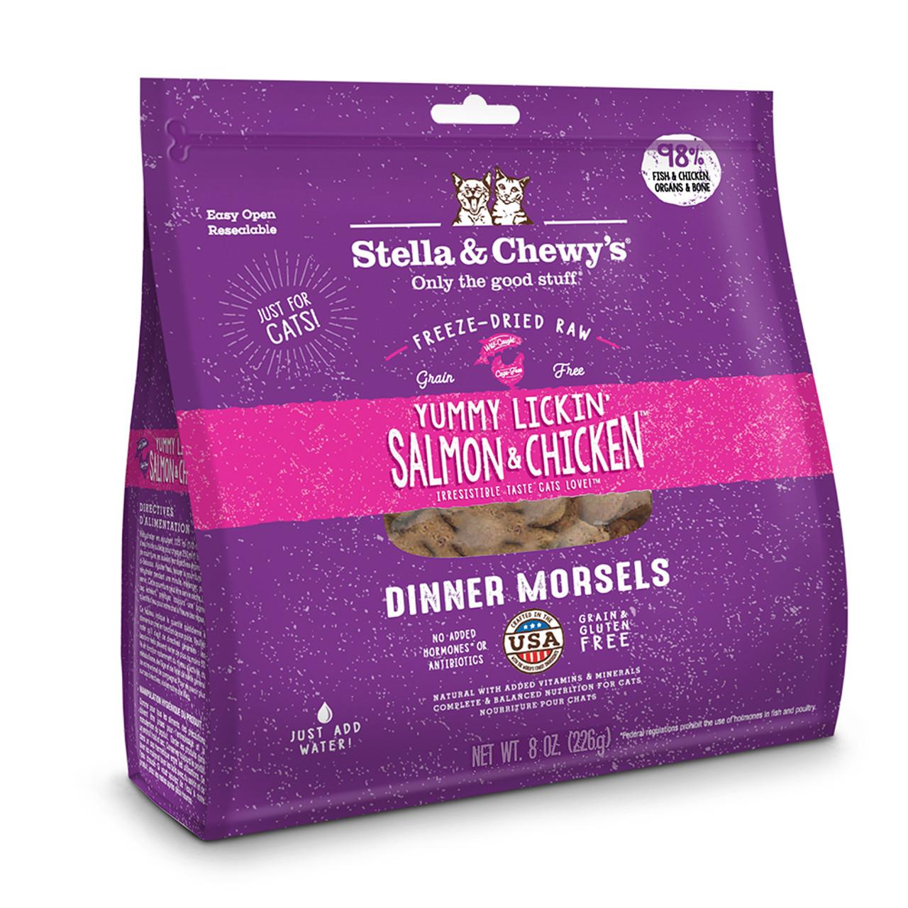 Stella & Chewy's Yummy Lickin' Salmon & Chicken Dinner Freeze-Dried Cat Food