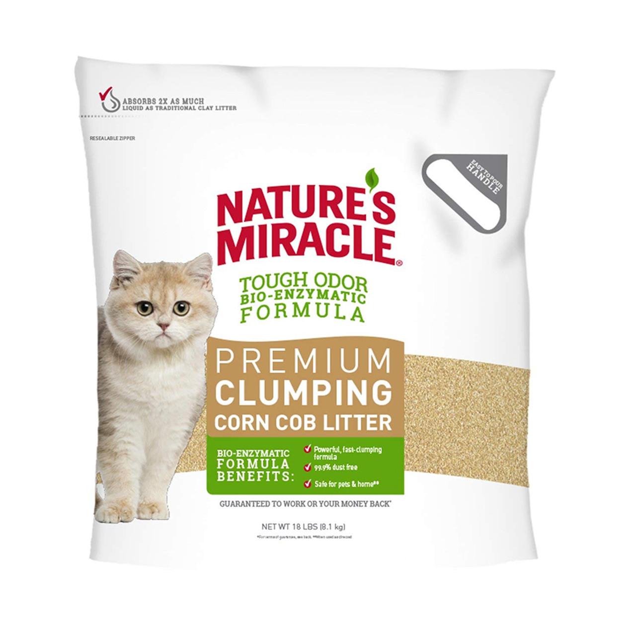 Nature's Miracle Premium Clumping Corn Cob Cat Litter - 18 lb