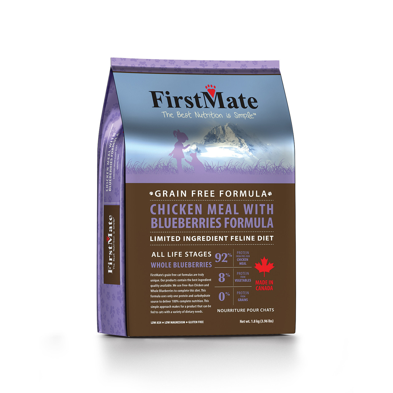 FirstMate Chicken Meal with Blueberries Formula Dry Cat Food