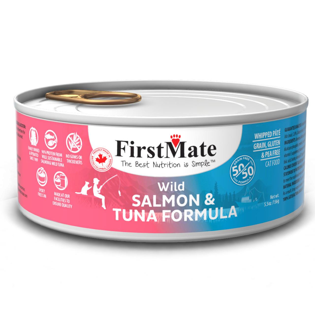 FirstMate 50/50 Wild Salmon & Wild Tuna Formula Canned Cat Food