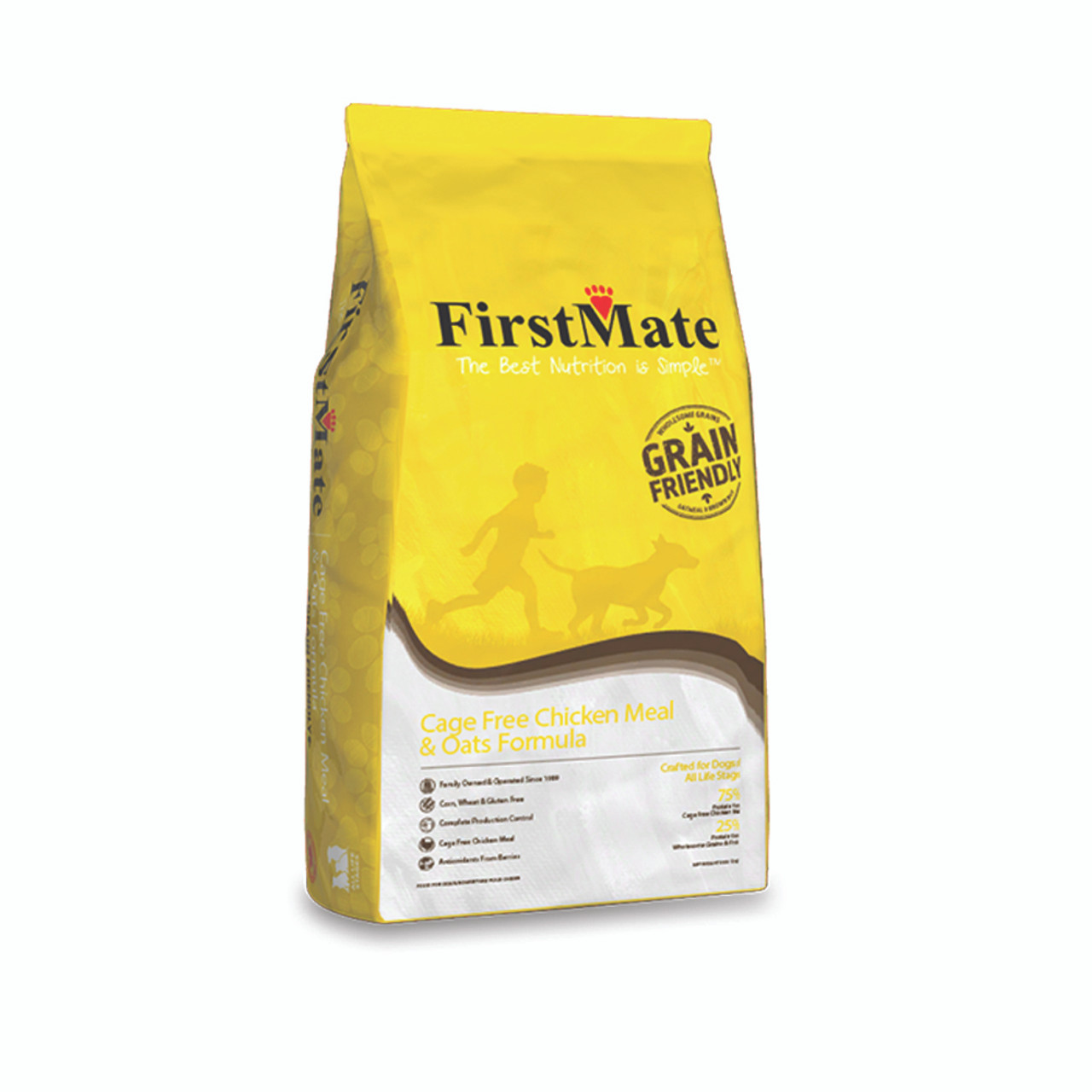 FirstMate Cage Free Chicken Meal & Oats Formula Dry Dog Food