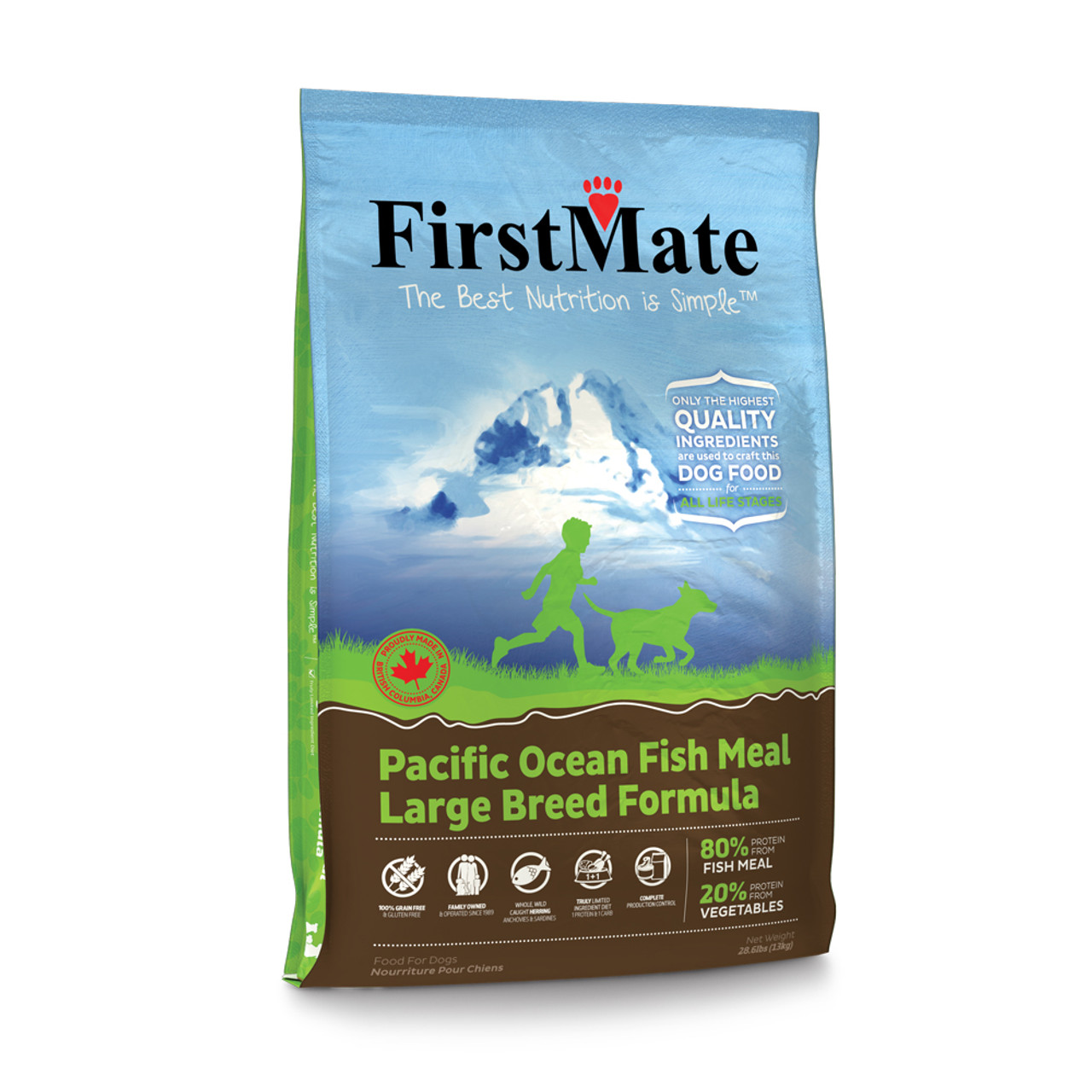 FirstMate Pacific Ocean Fish Meal Large Breed Formula Dry Dog Food