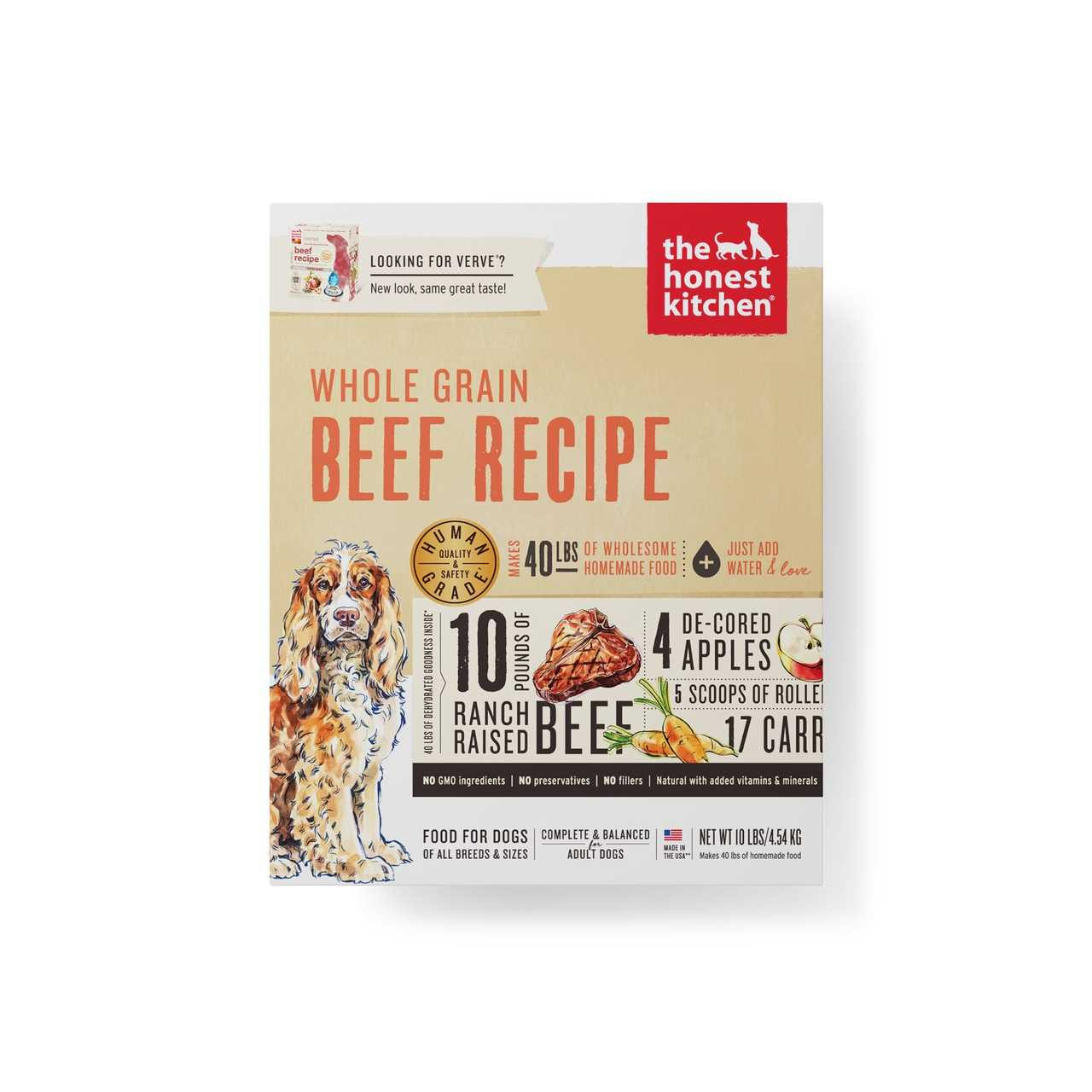 The Honest Kitchen Whole Grain Beef Recipe (VERVE) Dehydrated Dog Food