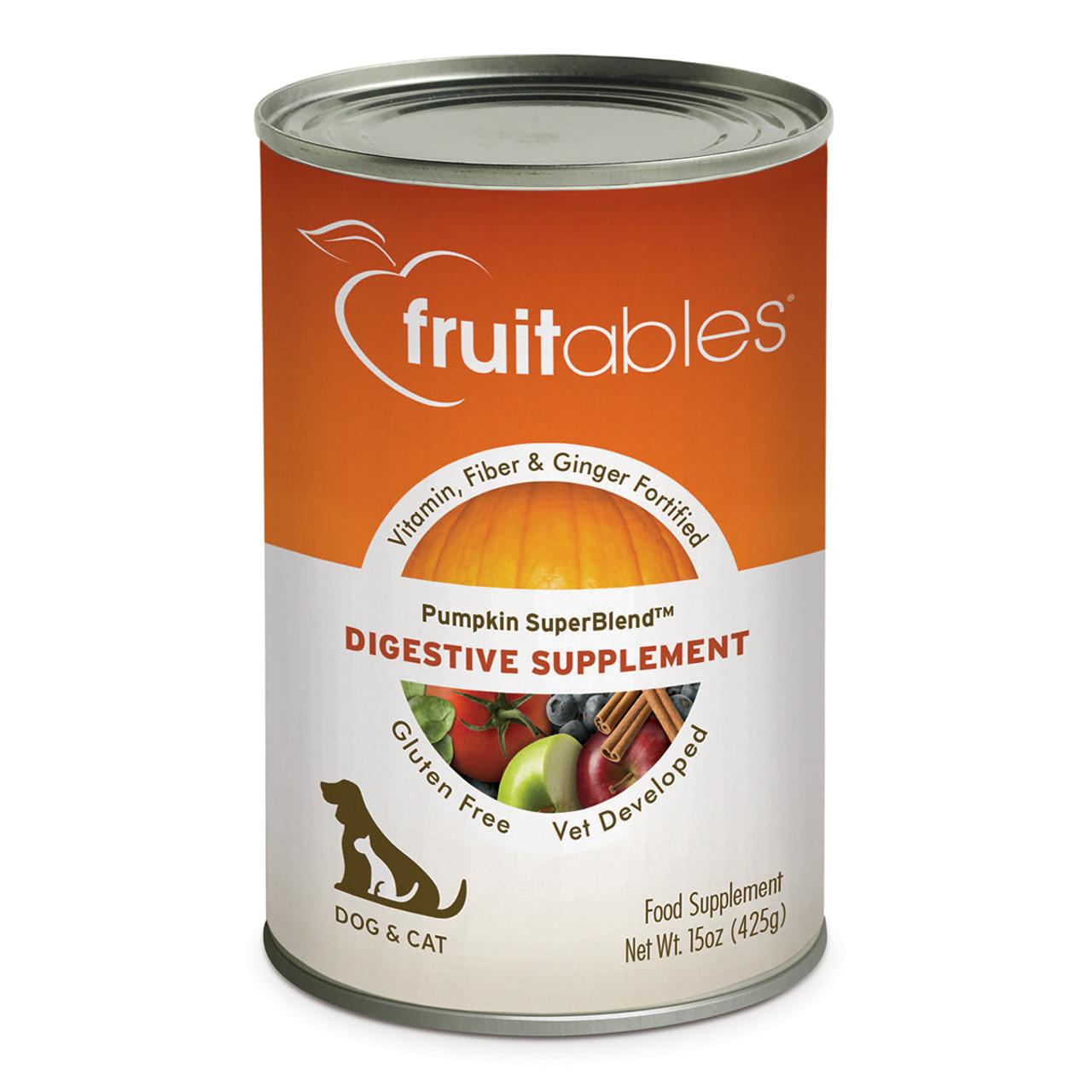 Fruitables Pumpkin SuperBlend Digestive Supplement for Dogs & Cats