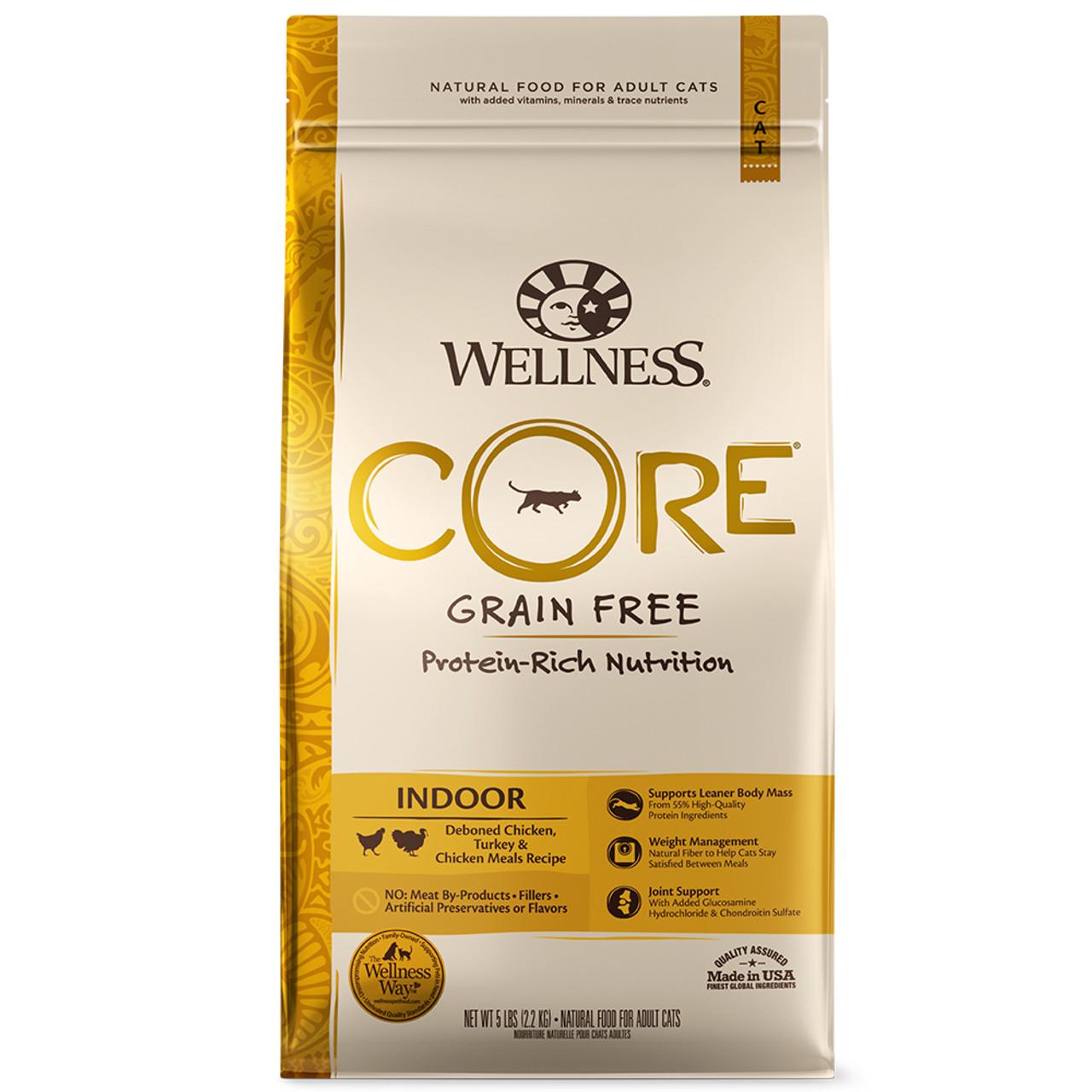 Wellness CORE® INDOOR Deboned Chicken, Turkey and Chicken Meals Dry Cat Food