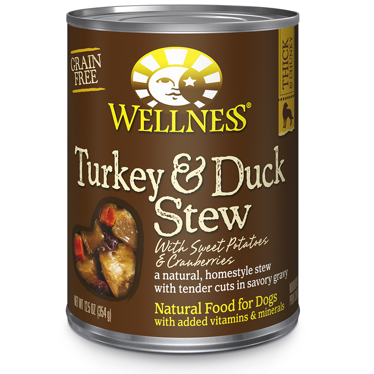 Wellness Homestyle Stew Grain Free Turkey & Duck with Sweet Potatoes & Cranberries Canned Dog Food