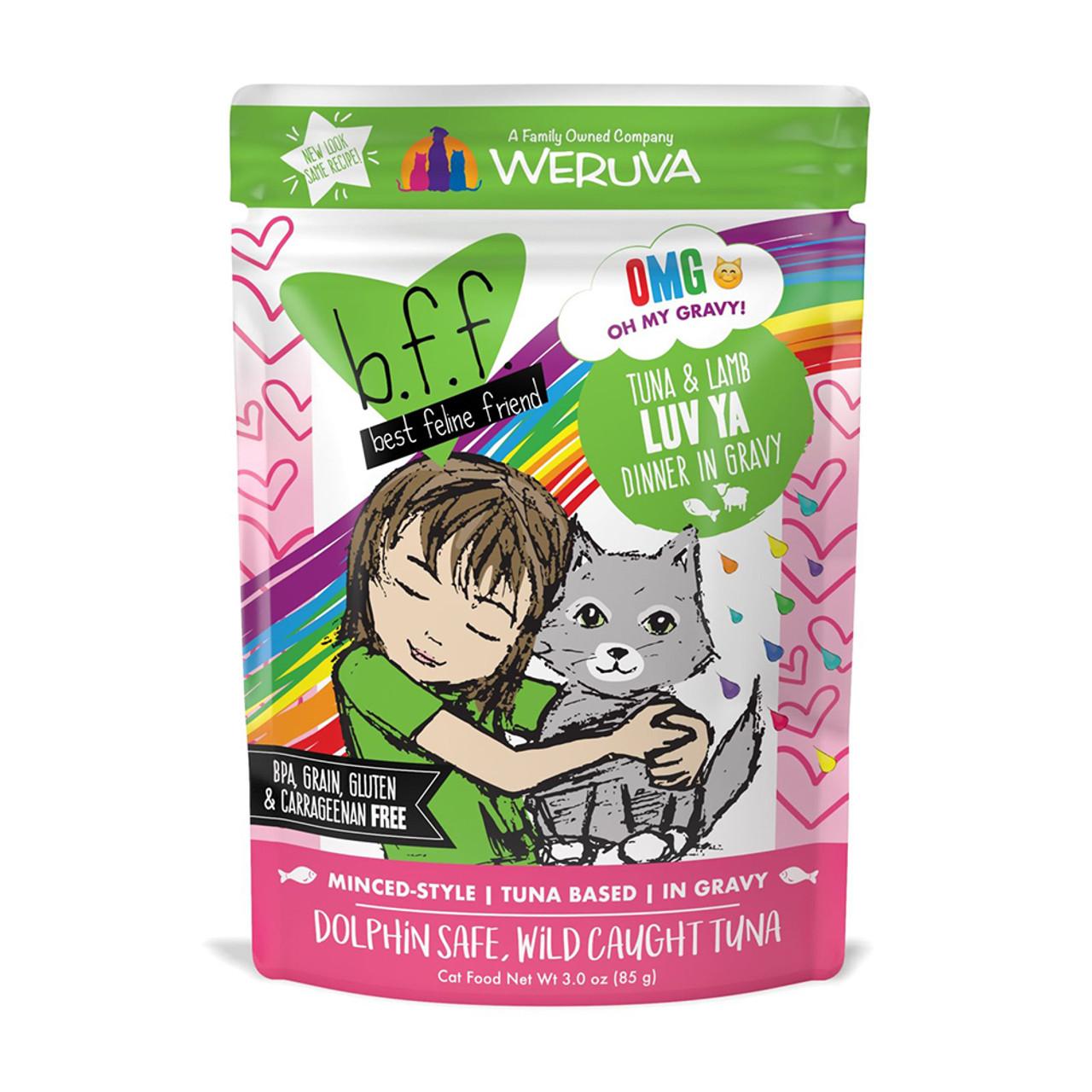 B.F.F. Tuna & Lamb Luv Ya Recipe in Gravy Cat Food Pouch