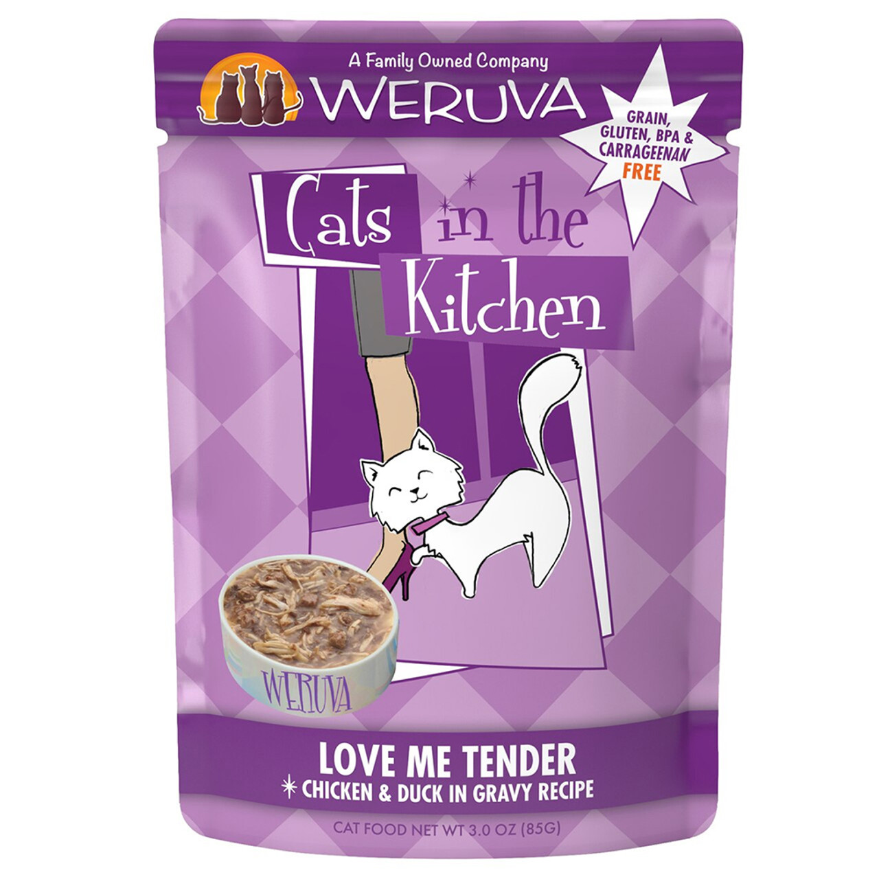 Cats in the Kitchen Love Me Tender Chicken & Duck in Gravy Recipe Cat Food Pouch