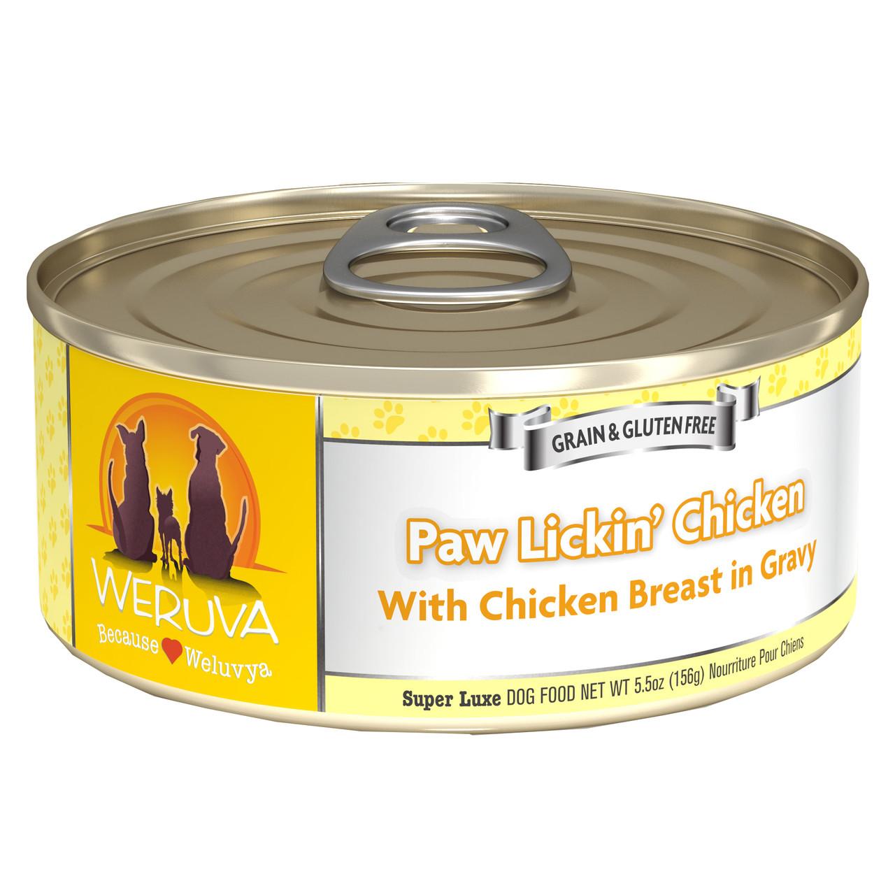 Weruva Paw Lickin' Chicken in Gravy Canned Dog Food