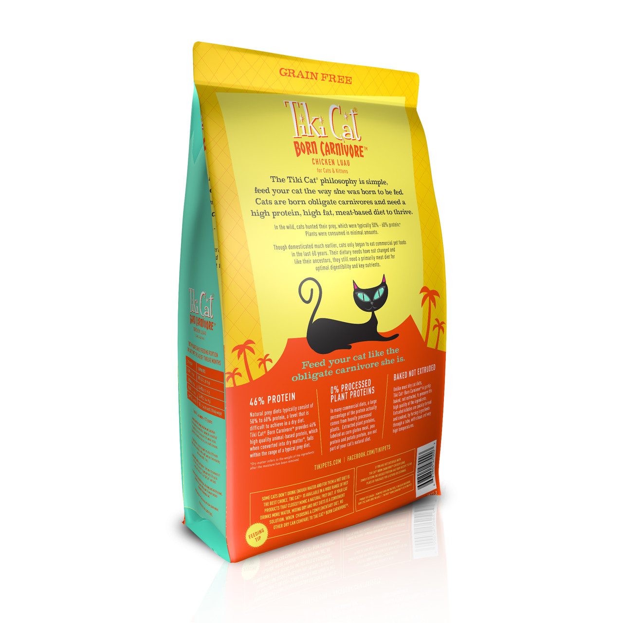 Tiki Cat Born Carnivore Chicken Luau Dry Cat Food