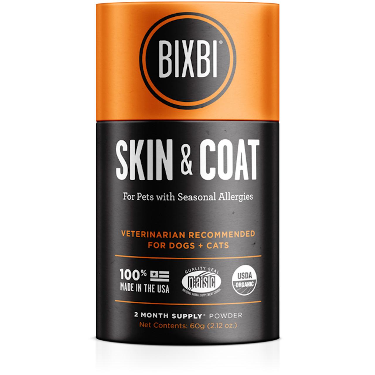 Bixbi Skin & Coat Supplement for Dogs & Cats