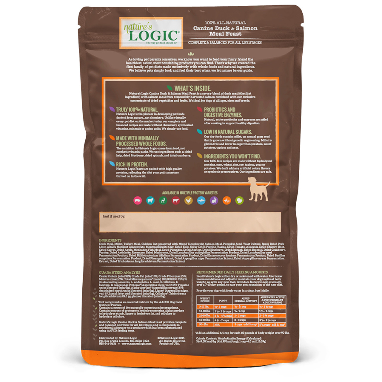 Nature's Logic Canine Duck & Salmon Meal Feast Dry Dog Food