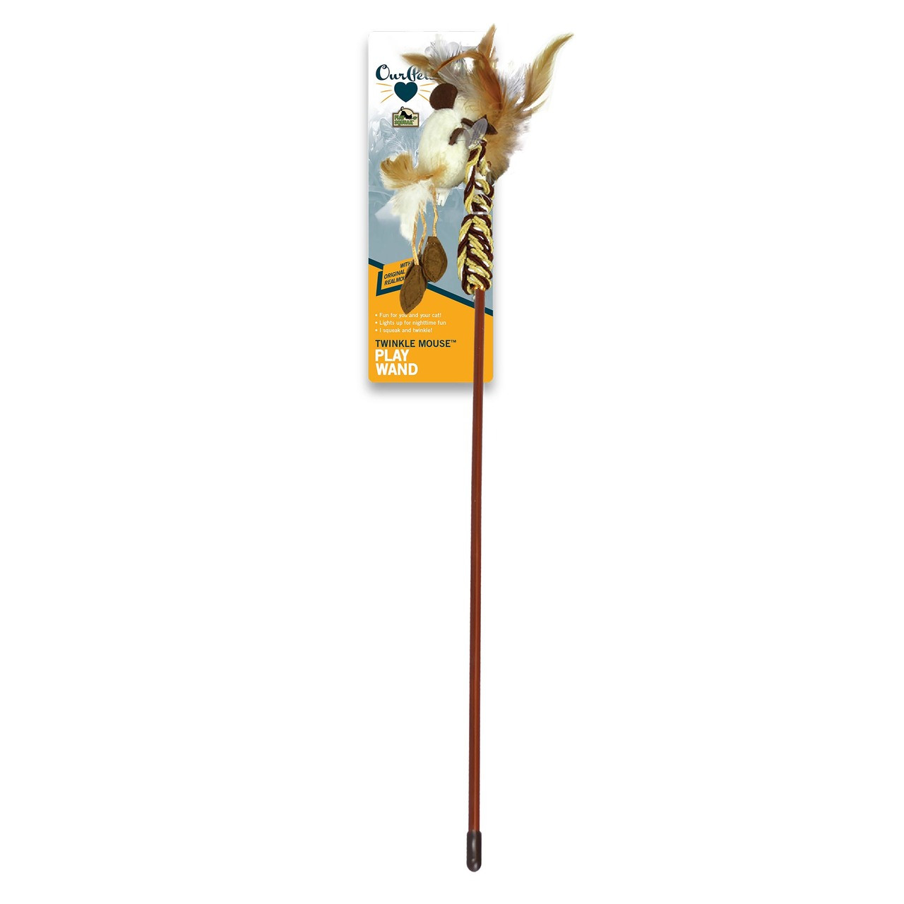 OurPets Twinkle Teaser Cat Wand Toy