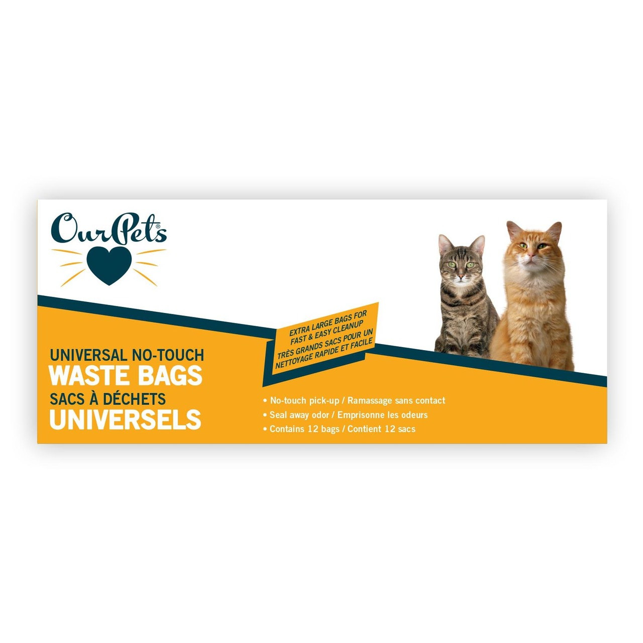 OurPets Universal No-Touch Cat Litter Waste Bags