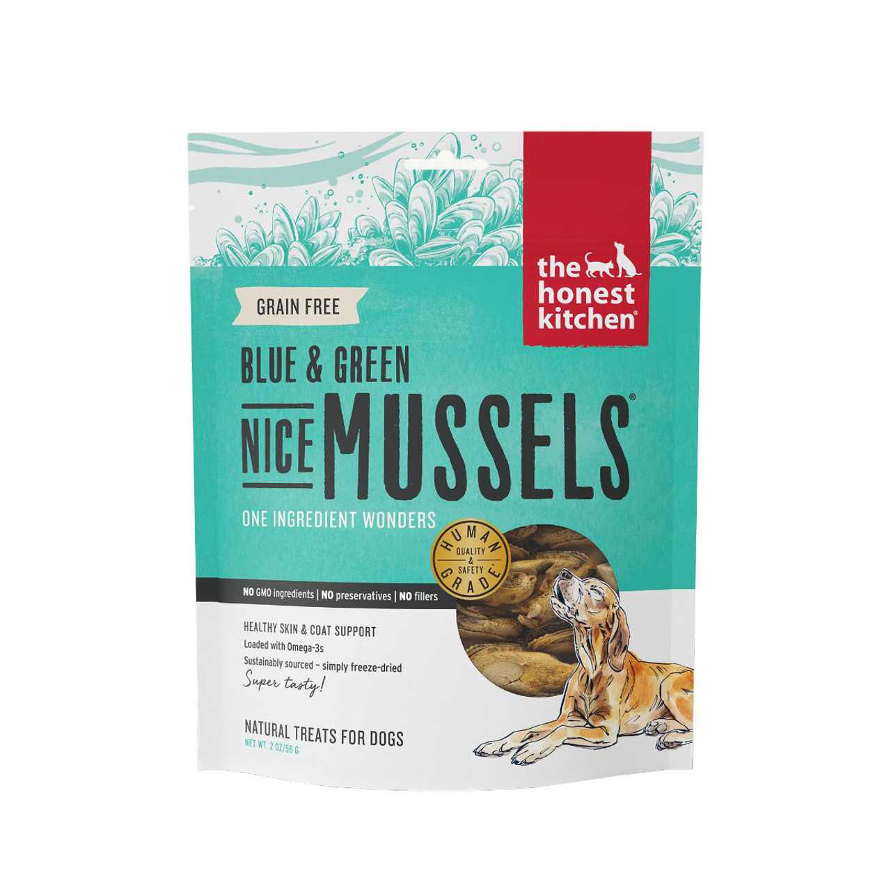 The Honest Kitchen Blue Green Nice Mussels Dog Treat
