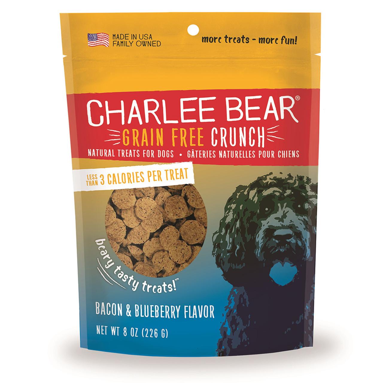 Charlee Bear Crunch Bacon & Blueberry Flavor Grain-Free Dog Treats