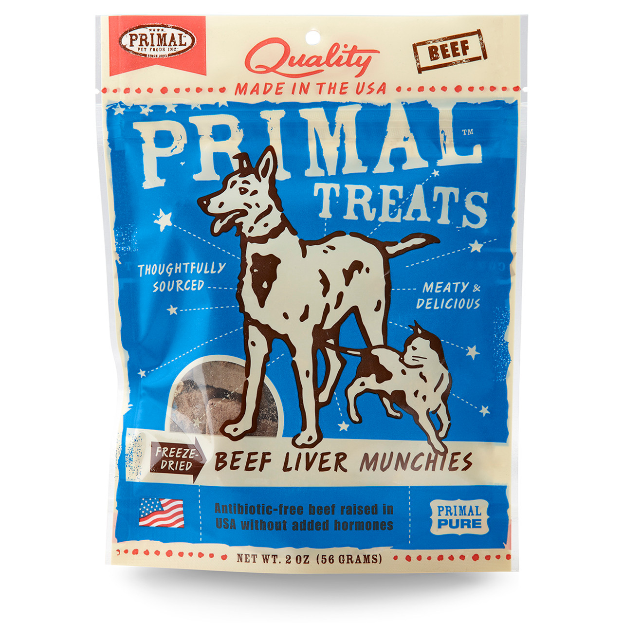Primal Beef Liver Munchies Freeze Dried Dog & Cat Treats