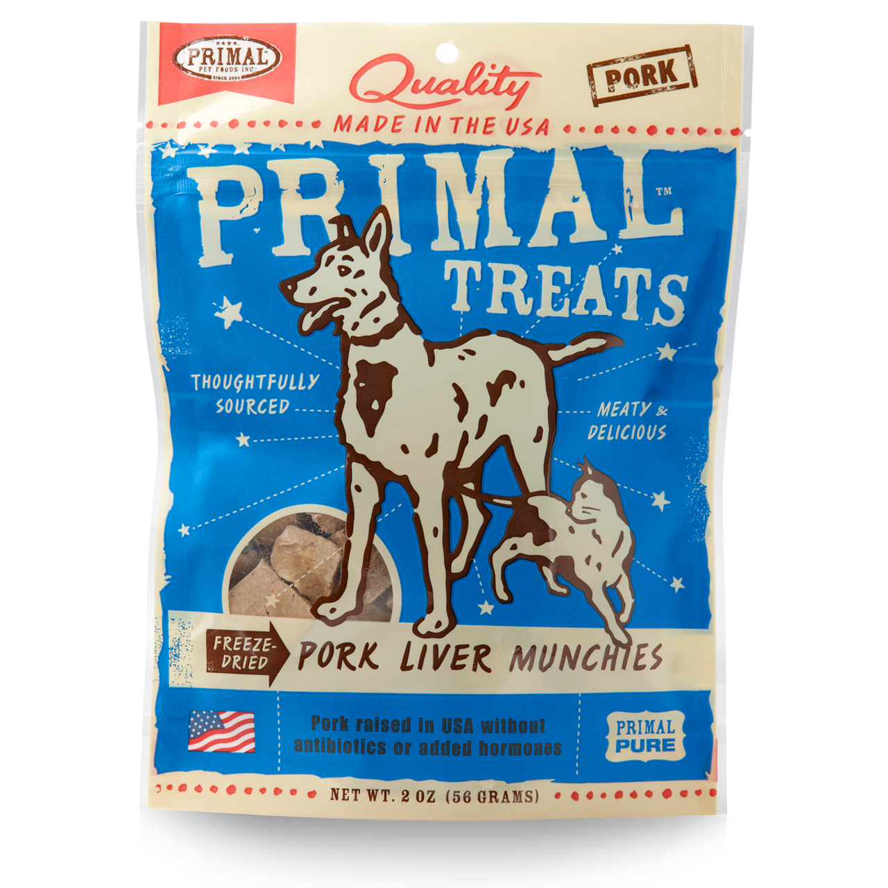 Primal Pork Liver Munchies Freeze Dried Dog & Cat Treats