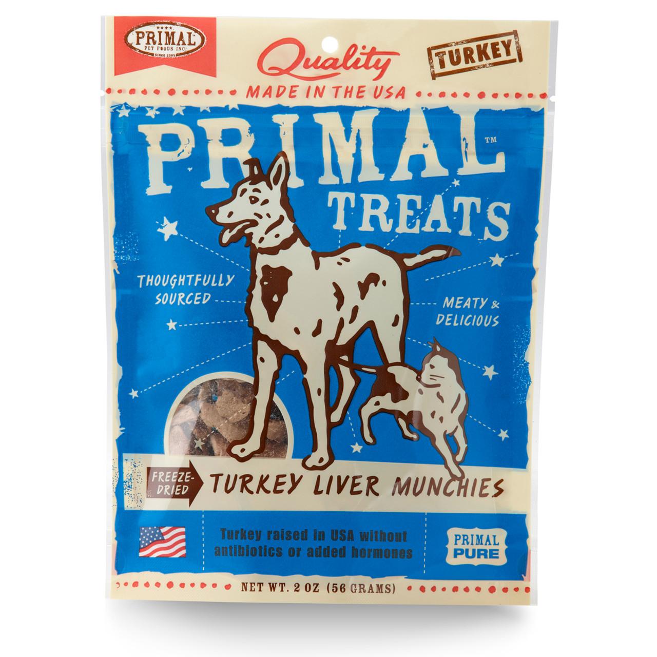 Primal Turkey Liver Munchies Freeze Dried Dog & Cat Treats