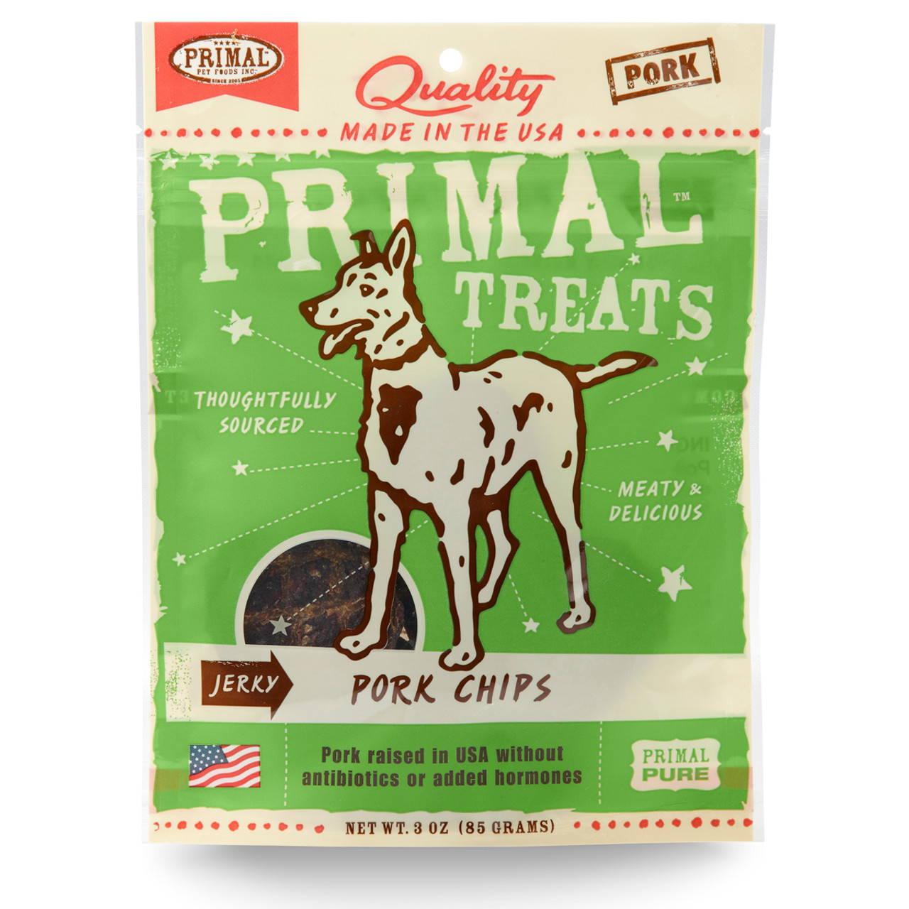 Primal Jerky Pork Chips Dog Treats