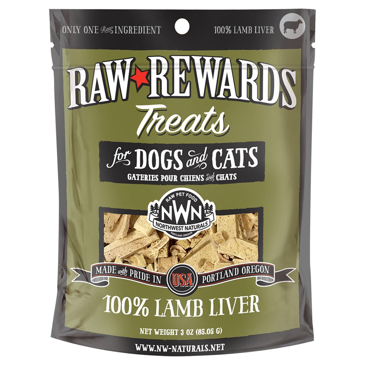 Raw Rewards Lamb Liver Freeze Dried Dog & Cat Treats