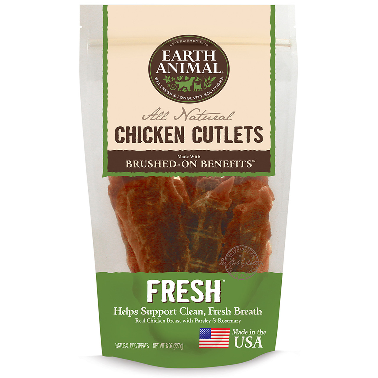 Earth Animal Fresh Chicken Cutlet Dog Treats