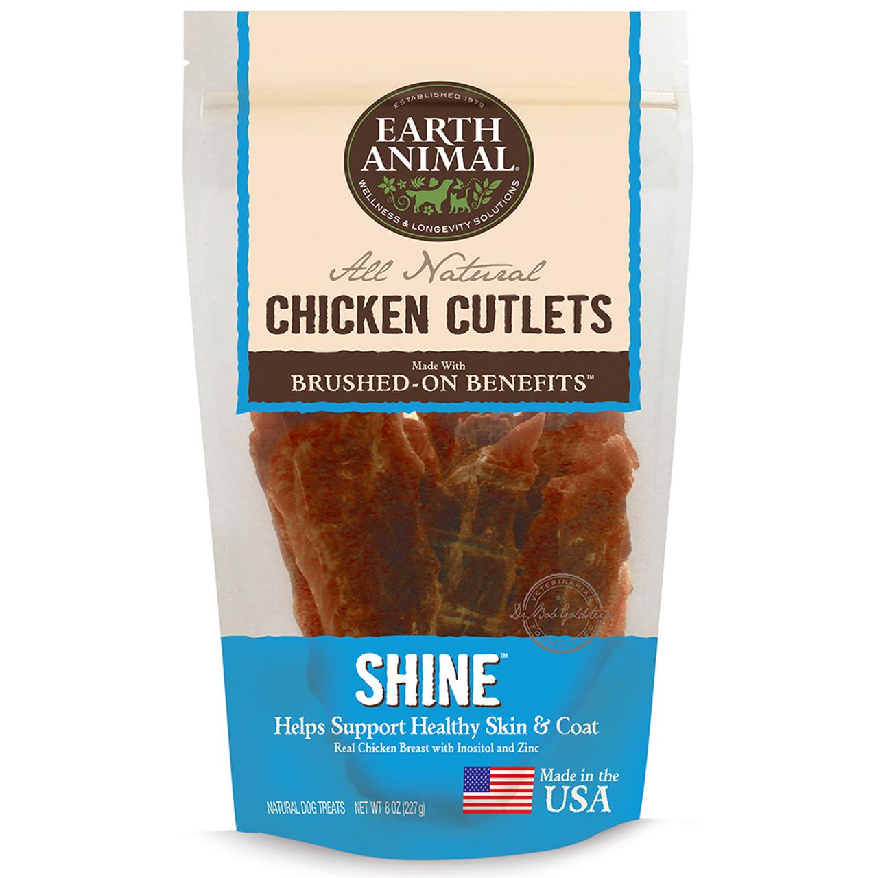 Earth Animal Shine Chicken Cutlet Dog Treats