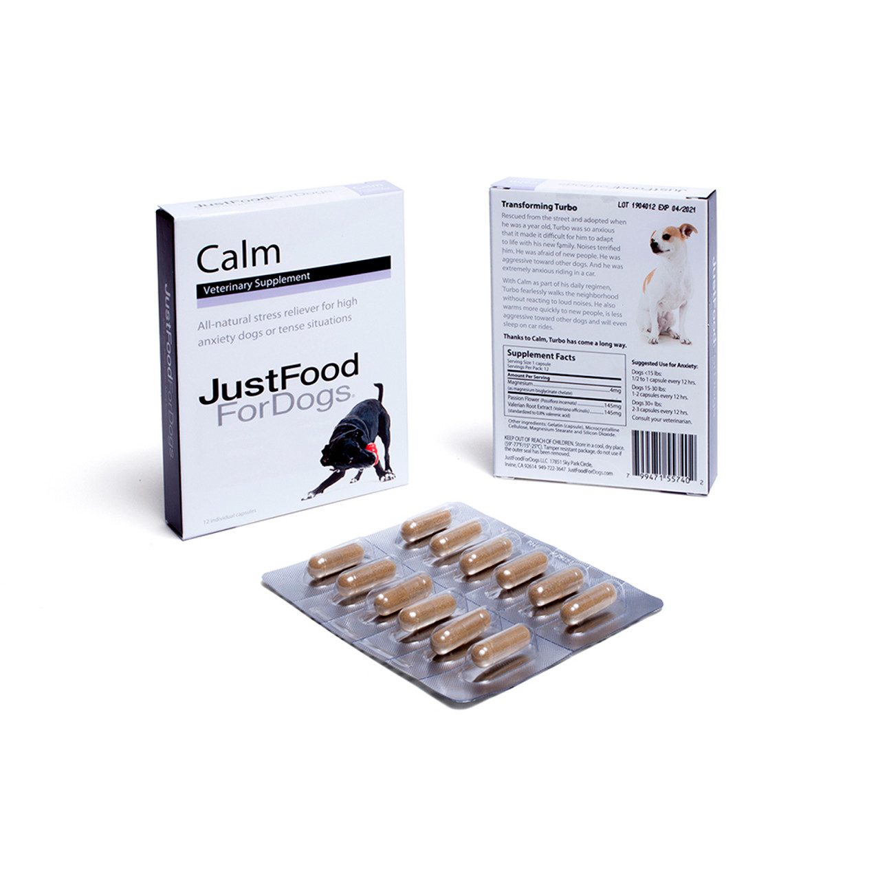 JustFoodForDogs Calm Supplement for Dogs