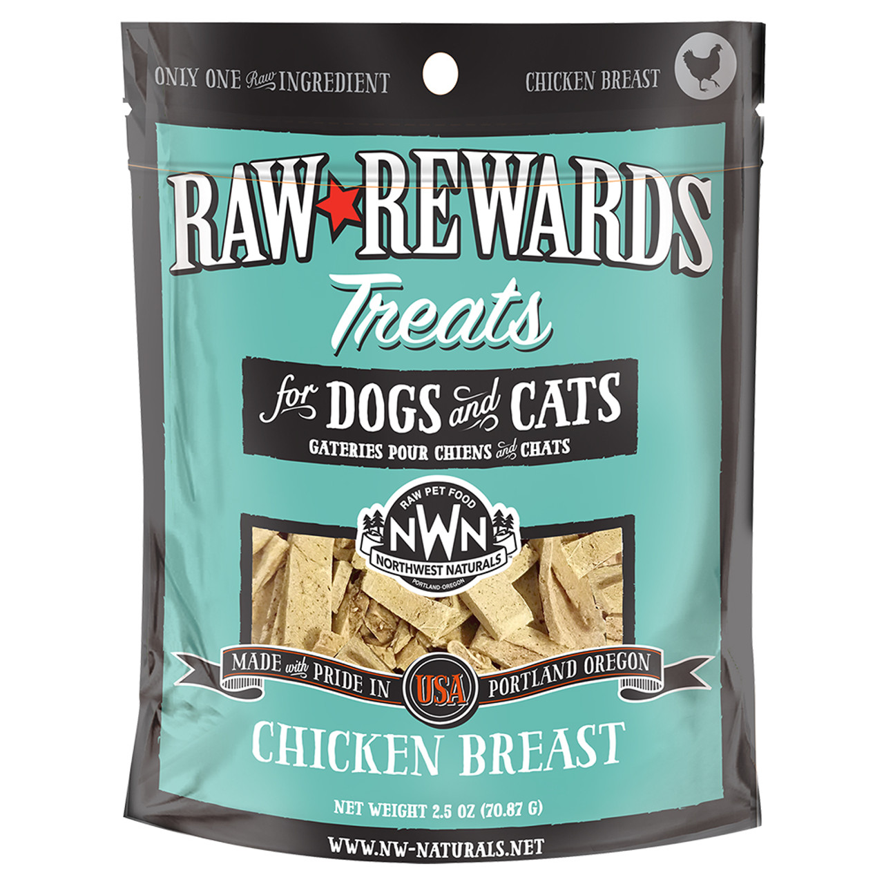 Raw Rewards Chicken Breast Freeze Dried Dog & Cat Treats