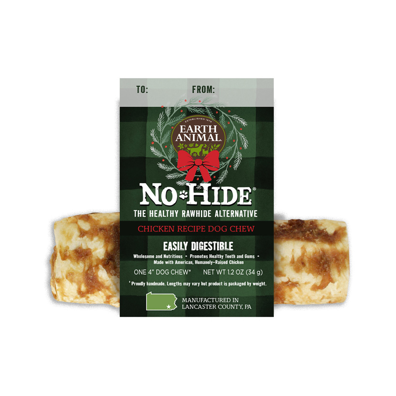 Earth Animal Holiday No-Hide Chicken Chews for Dogs