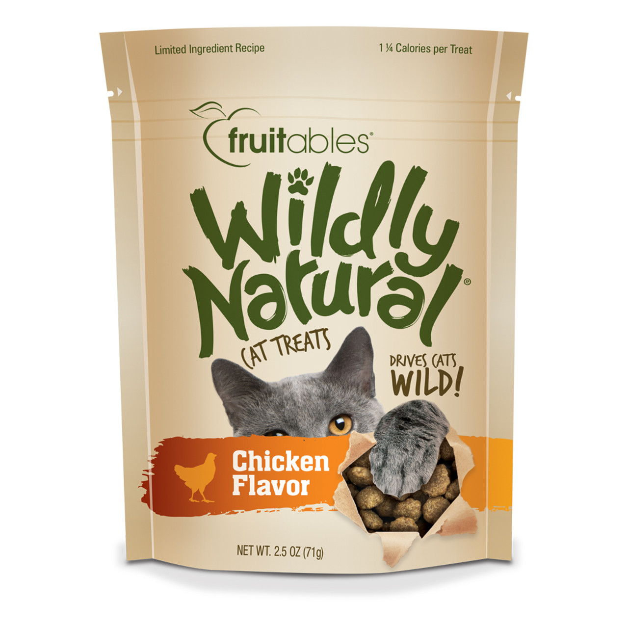 Fruitables Wildly Natural Chicken Flavor Cat Treats