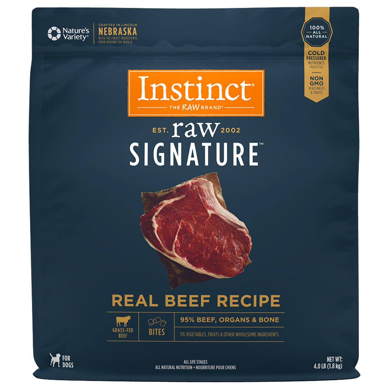Instinct Raw Signature Frozen Bites Real Beef Recipe Dog Food