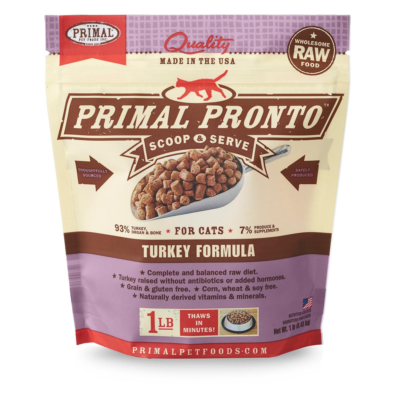 Primal Pronto Raw Frozen Feline Turkey Formula Cat Food