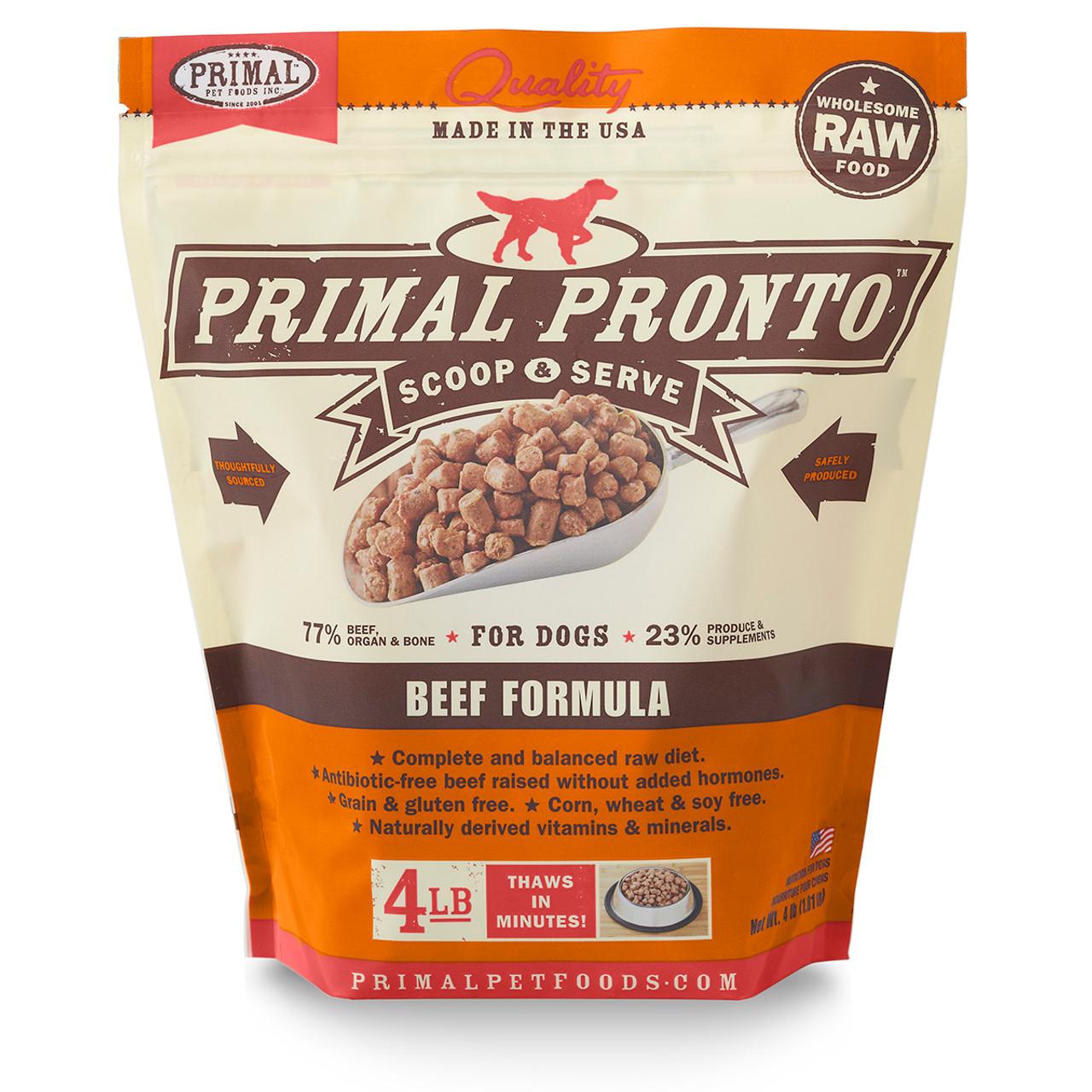 Primal Pronto Raw Frozen Canine Beef Formula Dog Food