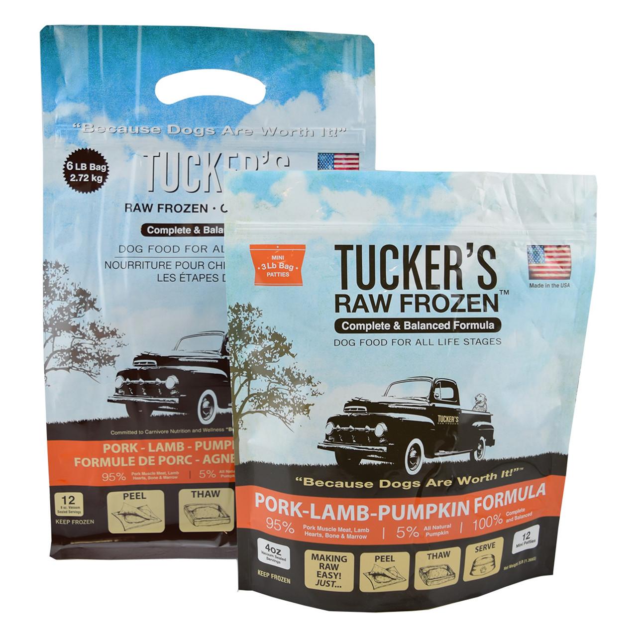 Tucker's Raw Frozen Pork-Lamb-Pumpkin Dog Food