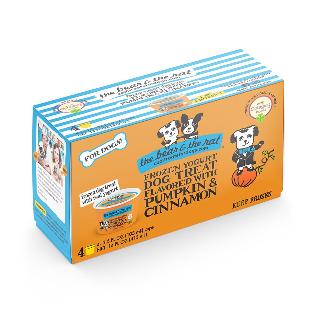The Bear & The Rat Pumpkin Frozen Yogurt Dog Treat