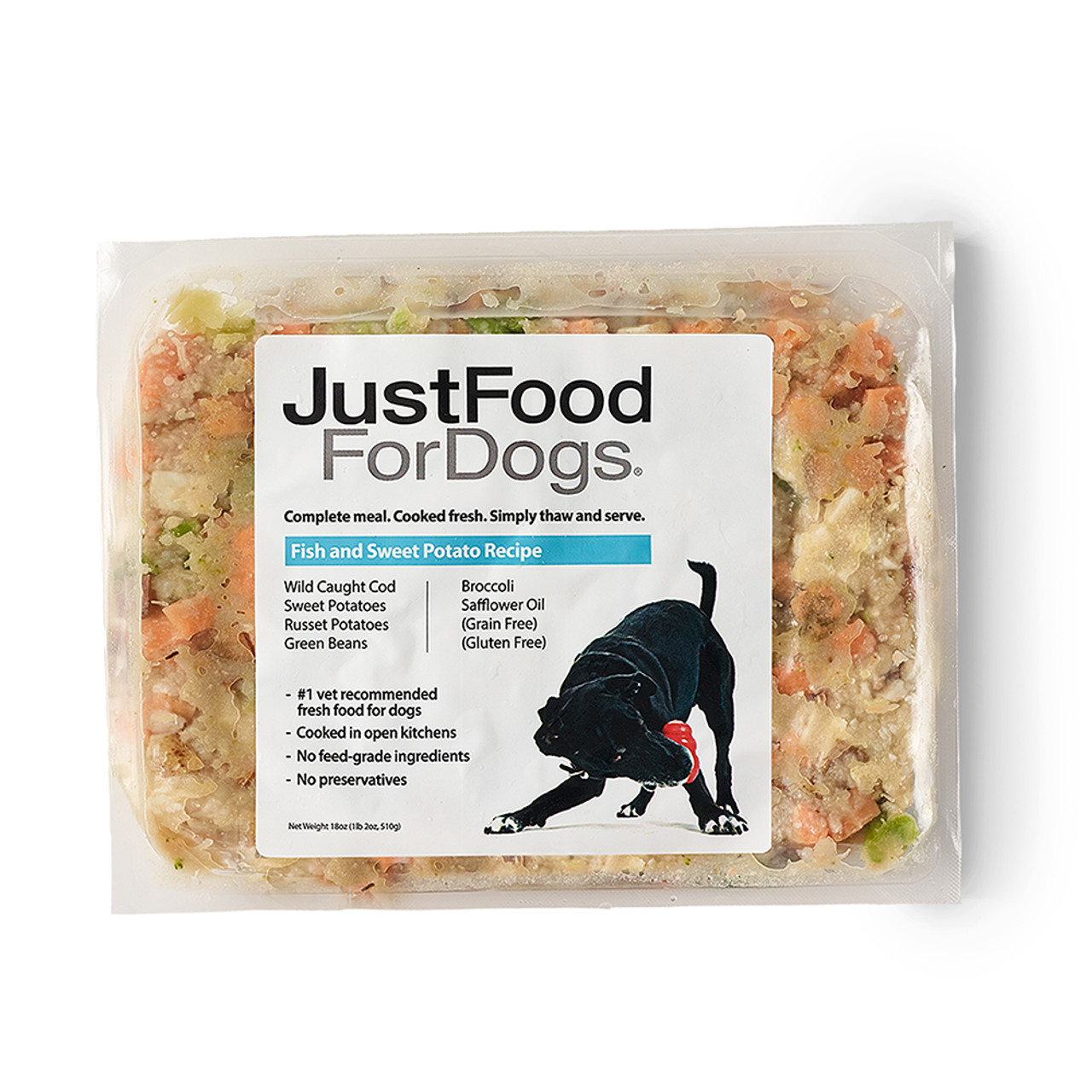 JustFoodForDogs Fish & Sweet Potato Frozen Cooked Dog Food