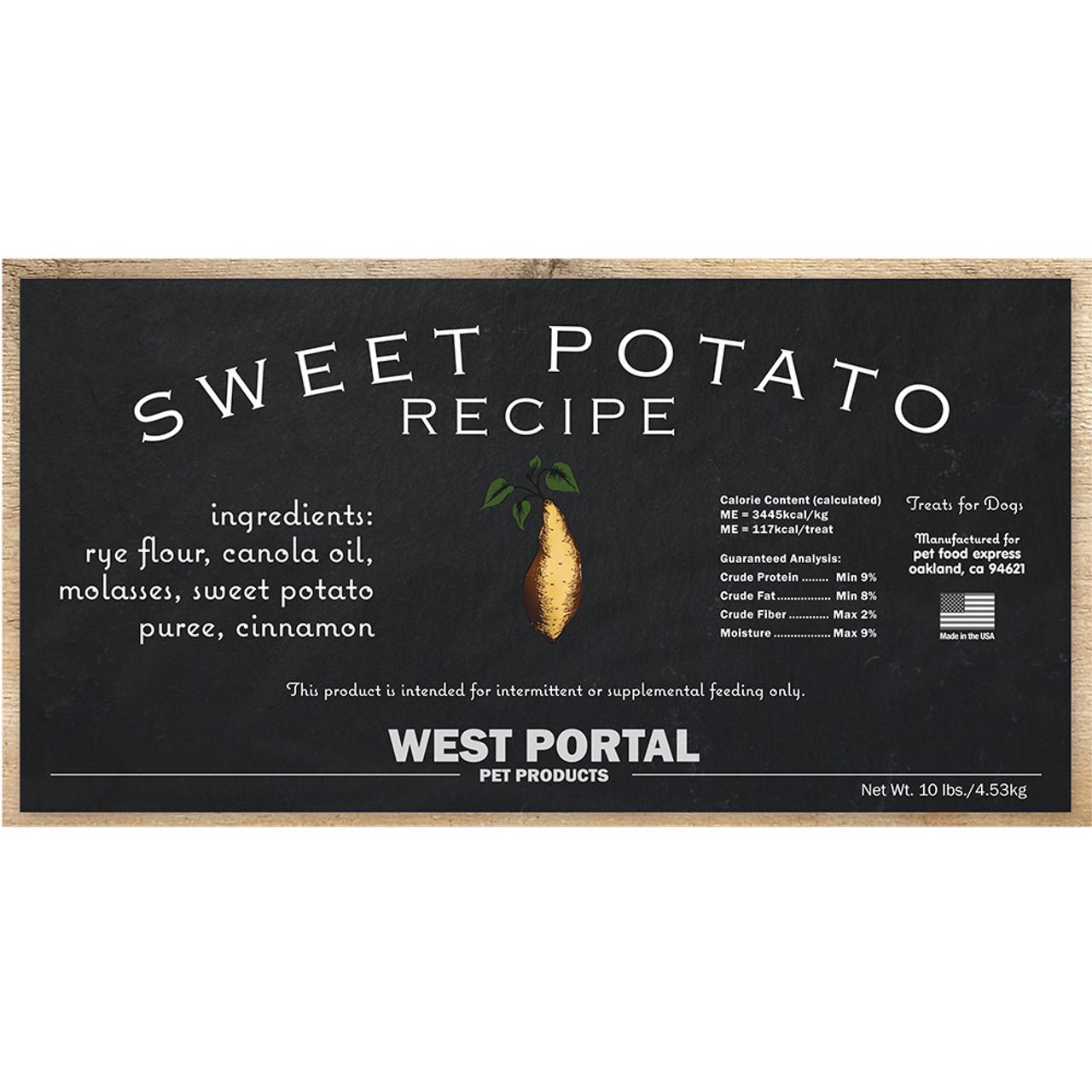 West Portal Natural Sweet Potato Dog Biscuits Pet Food Express