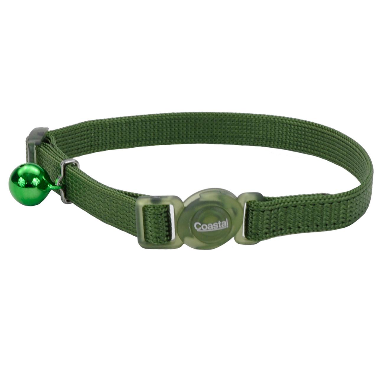Safe Cat Adjustable Snag-Proof Breakaway Palm Green Cat Collar