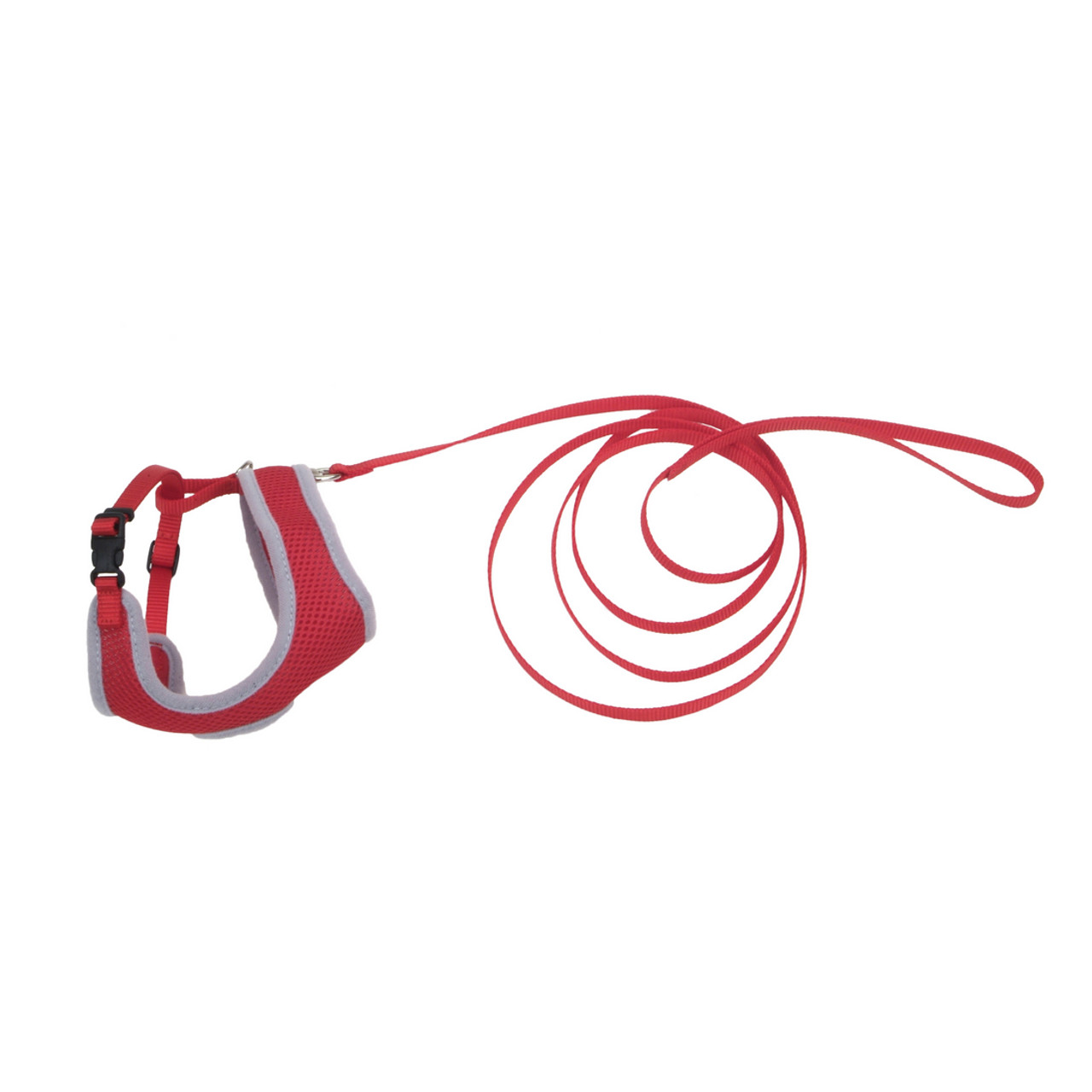Coastal Comfort Soft Adjustable Red Cat Harness with 6' Leash
