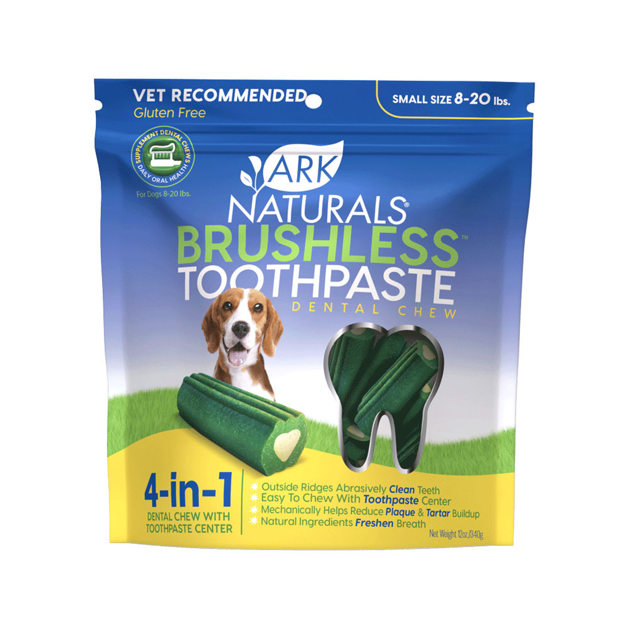 Ark Naturals Brushless ToothPaste Dog Dental Chew Treat