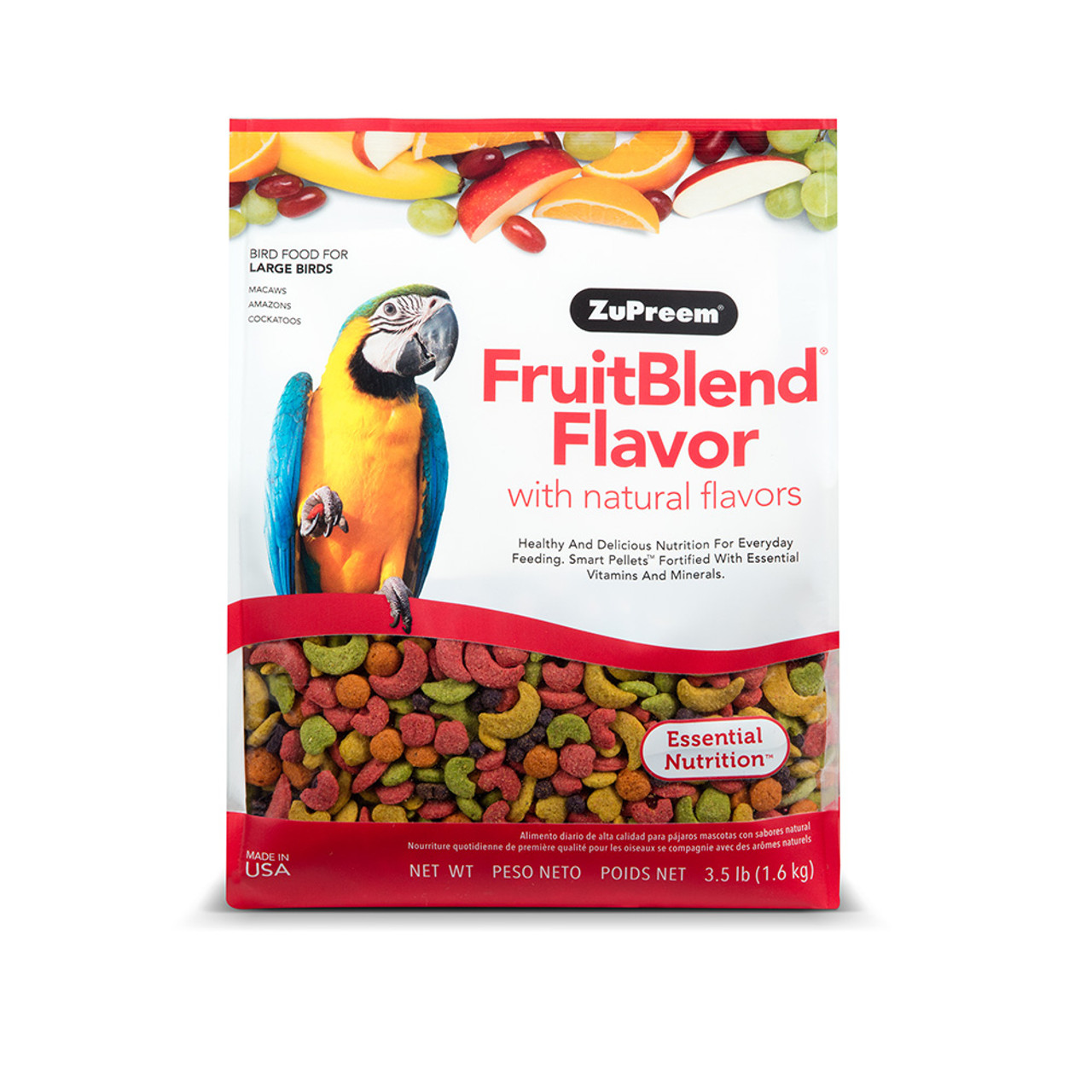 ZuPreem FruitBlend Flavor Large Bird Food