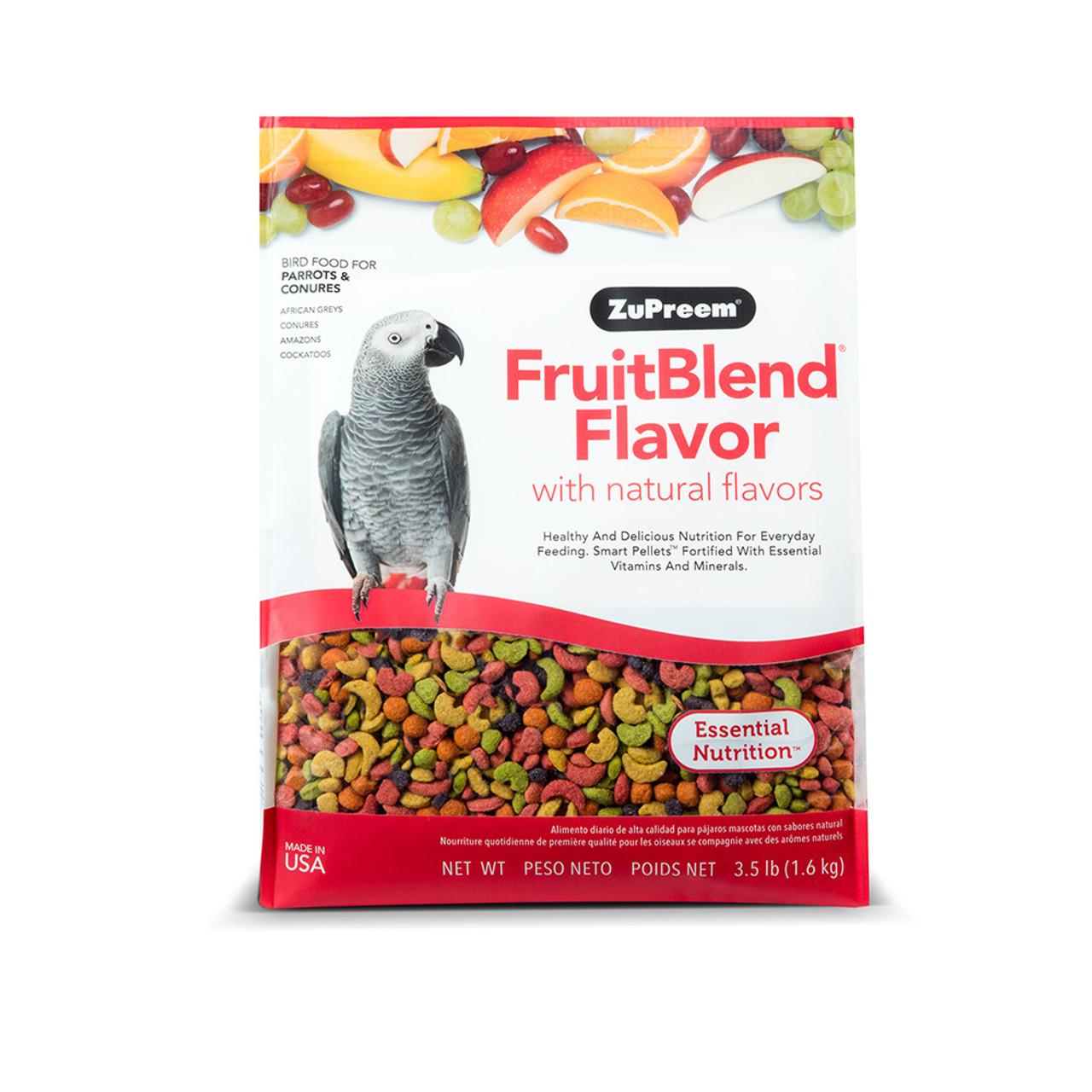ZuPreem FruitBlend Flavor Parrot & Conure Bird Food
