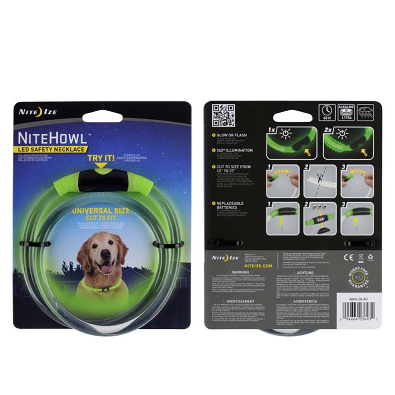 Nite Ize Nitehowl LED Safety Necklace for Dogs
