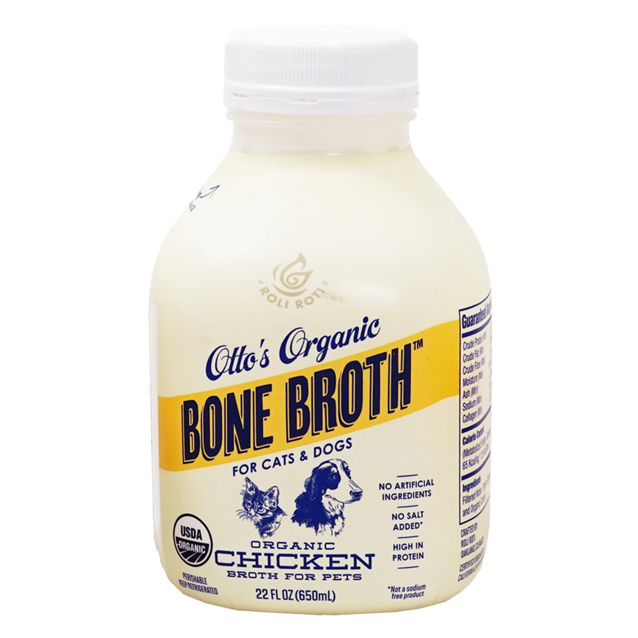 Otto's Organic Frozen Chicken Bone Broth For Cats & Dogs