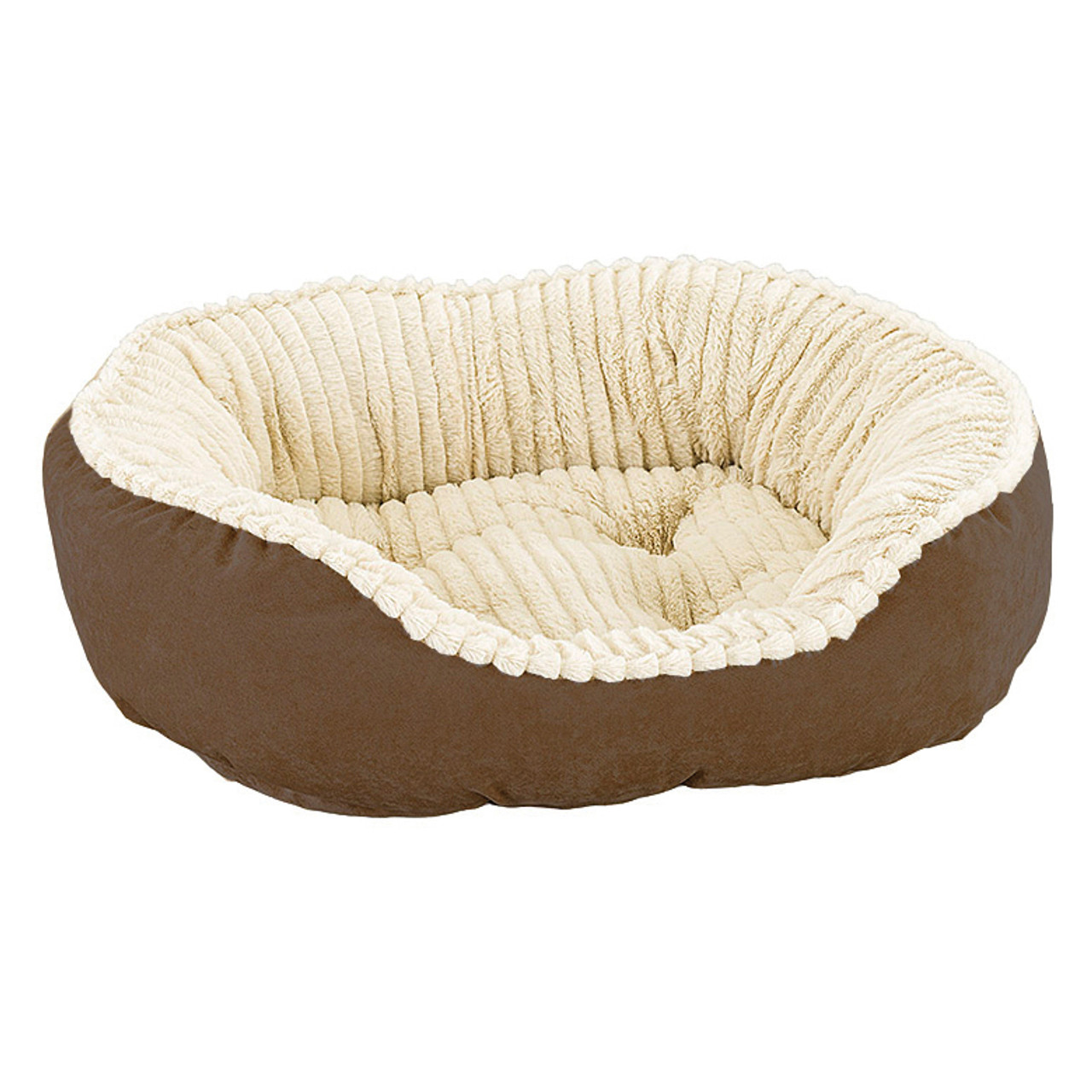 Sleep Zone Carved Plush Cozy Pet Bed