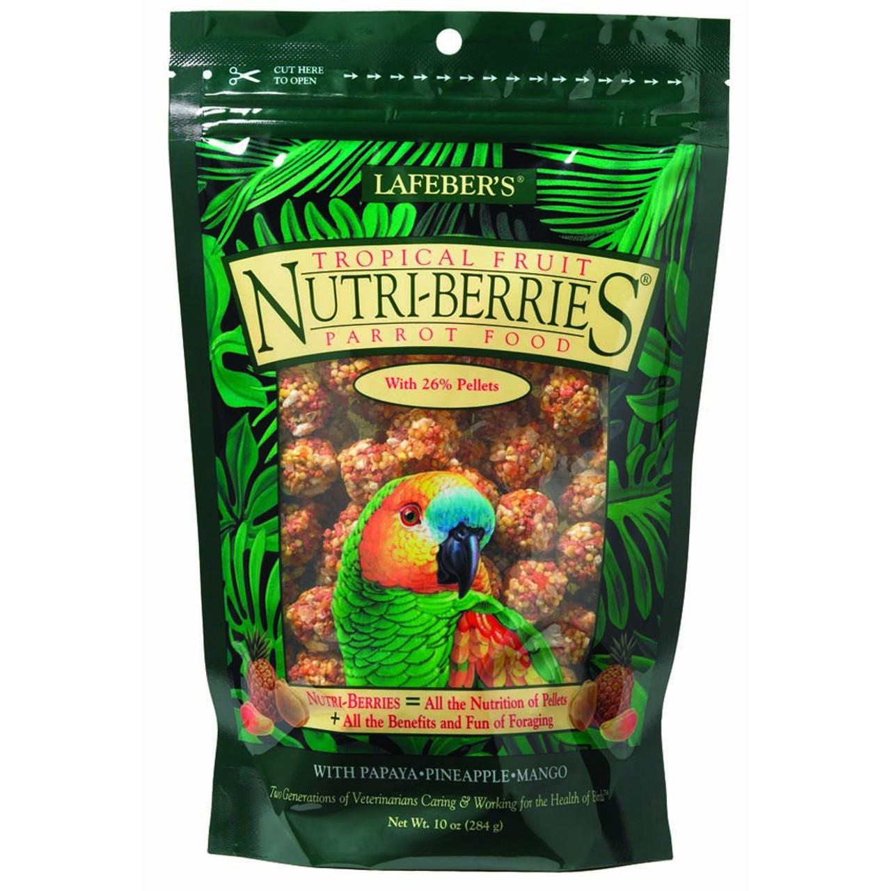 Lafeber's Tropical Fruit Nutri-Berries Parrot Bird Food
