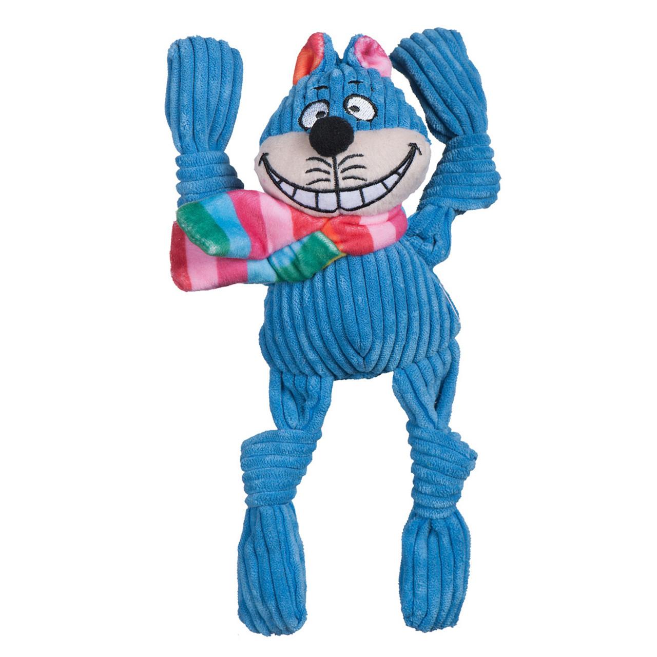 HuggleHounds Knottie Rainbow Cheshire Cat Plush Dog Toy