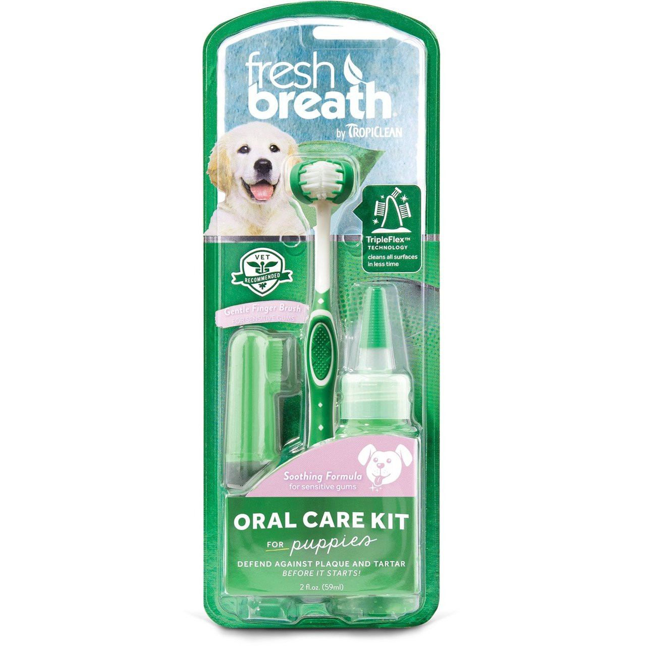 Fresh Breath By TropiClean Oral Care Kit for Puppies