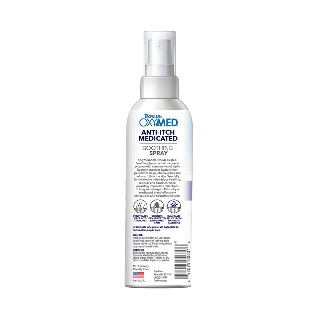 Tropiclean OxyMed Anti-Itch Medicated Soothing Spray for Dogs & Cats